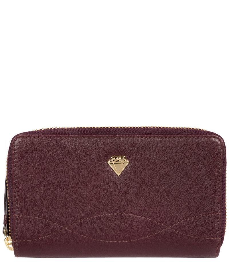 'Wittion' Beetroot Leather Zip-Round Purse image 1