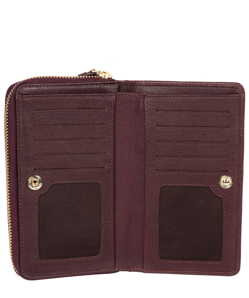 'Wittion' Beetroot Leather Zip-Round Purse image 3