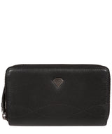 'Wittion' Black Leather Zip-Round Purse image 1