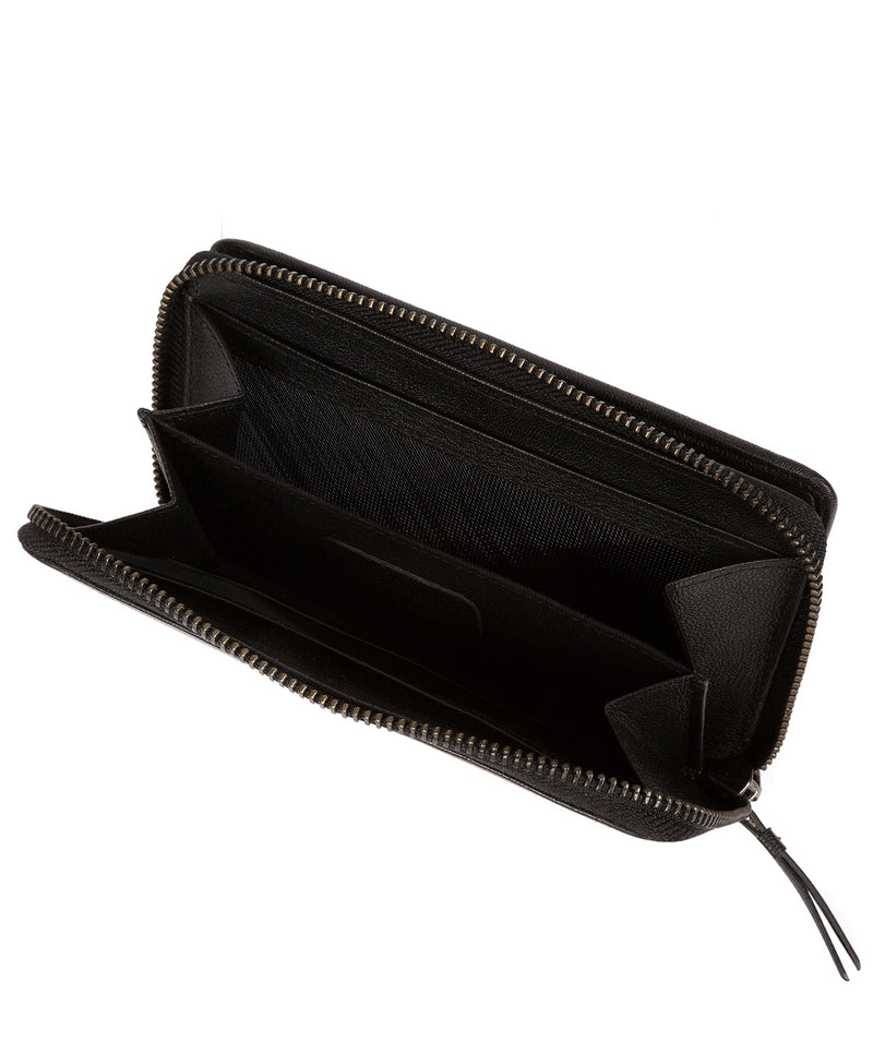 'Wittion' Black Leather Zip-Round Purse image 4