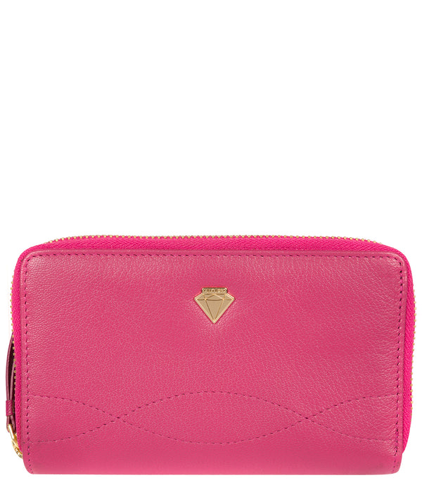 'Wittion' Fuchsia Leather Zip-Round Purse image 1