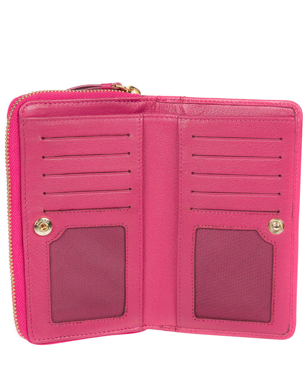 'Wittion' Fuchsia Leather Zip-Round Purse image 3