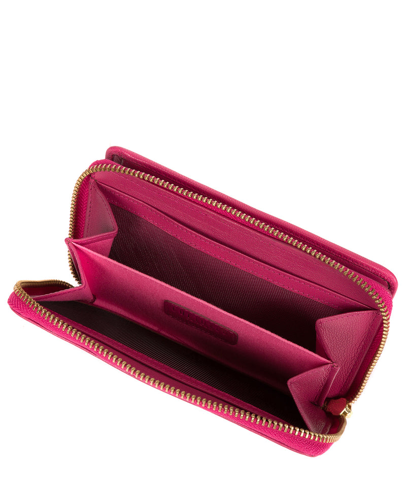 'Wittion' Fuchsia Leather Zip-Round Purse image 4