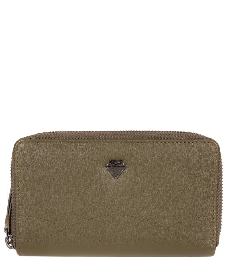 'Wittion' Olive Leather Zip-Round Purse image 1