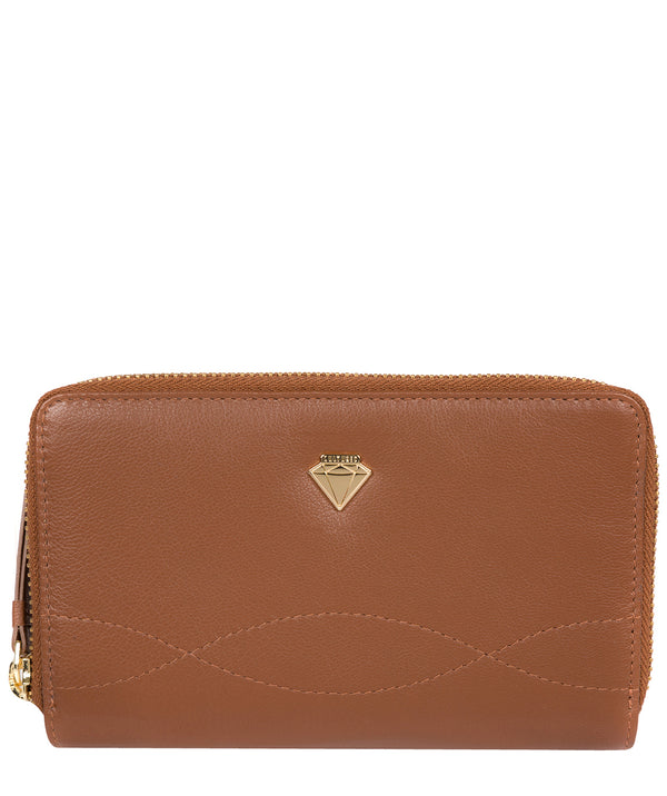 'Wittion' Tan Leather Zip-Round Purse image 1