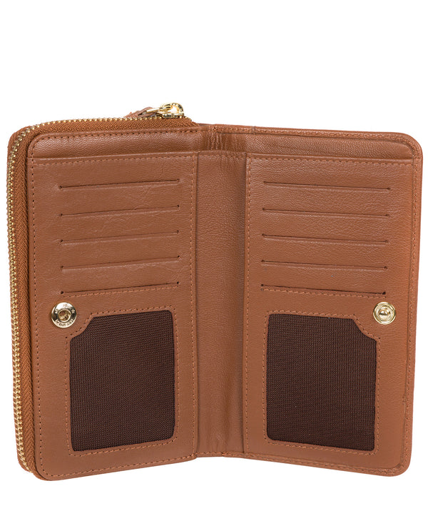 'Wittion' Tan Leather Zip-Round Purse image 3