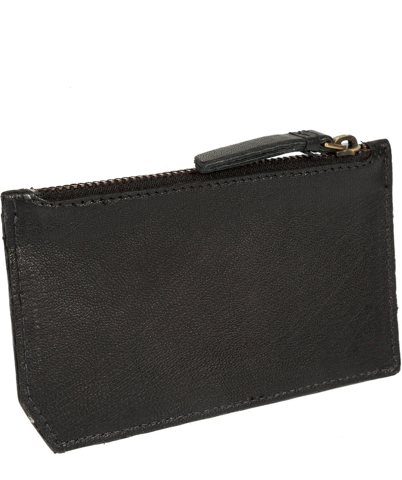 'Jo Jo' Black Leather Coin Purse