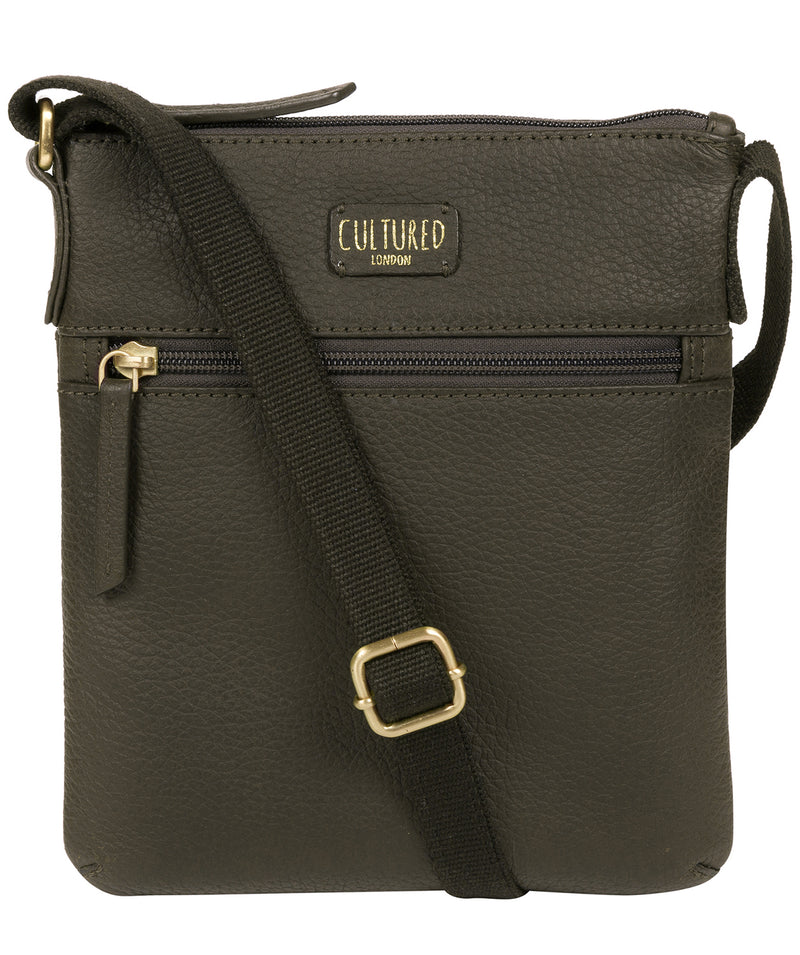 'Zaz' Olive Leather Small Cross Body Bag image 1