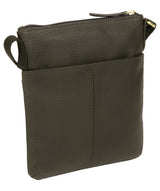 'Zaz' Olive Leather Small Cross Body Bag image 3