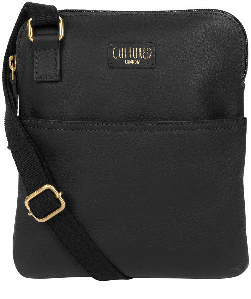 'Marqaux' Black Leather Small Cross Body Bag image 1