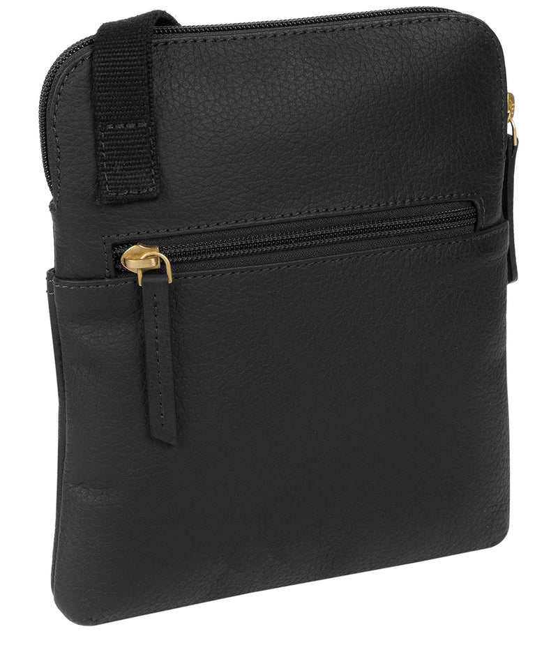 'Marqaux' Black Leather Small Cross Body Bag image 3