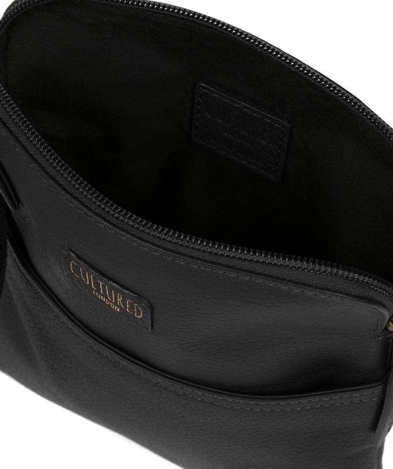 'Marqaux' Black Leather Small Cross Body Bag image 4