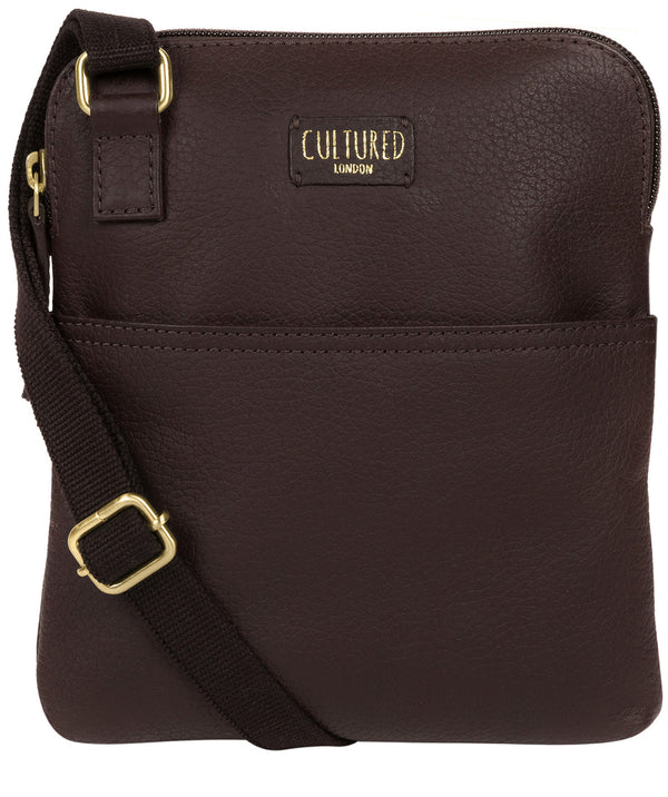 'Marqaux' Dark Chocolate Leather Small Cross Body Bag image 1