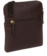 'Marqaux' Dark Chocolate Leather Small Cross Body Bag image 3