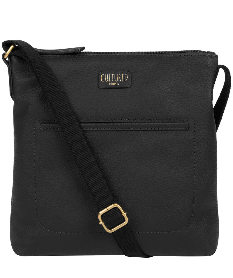 'Dalida' Black Leather Small Cross Body Bag image 1