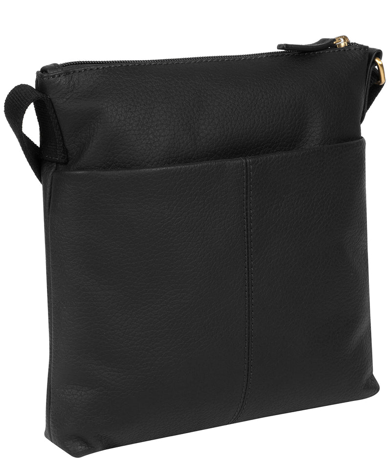 'Dalida' Black Leather Small Cross Body Bag image 3