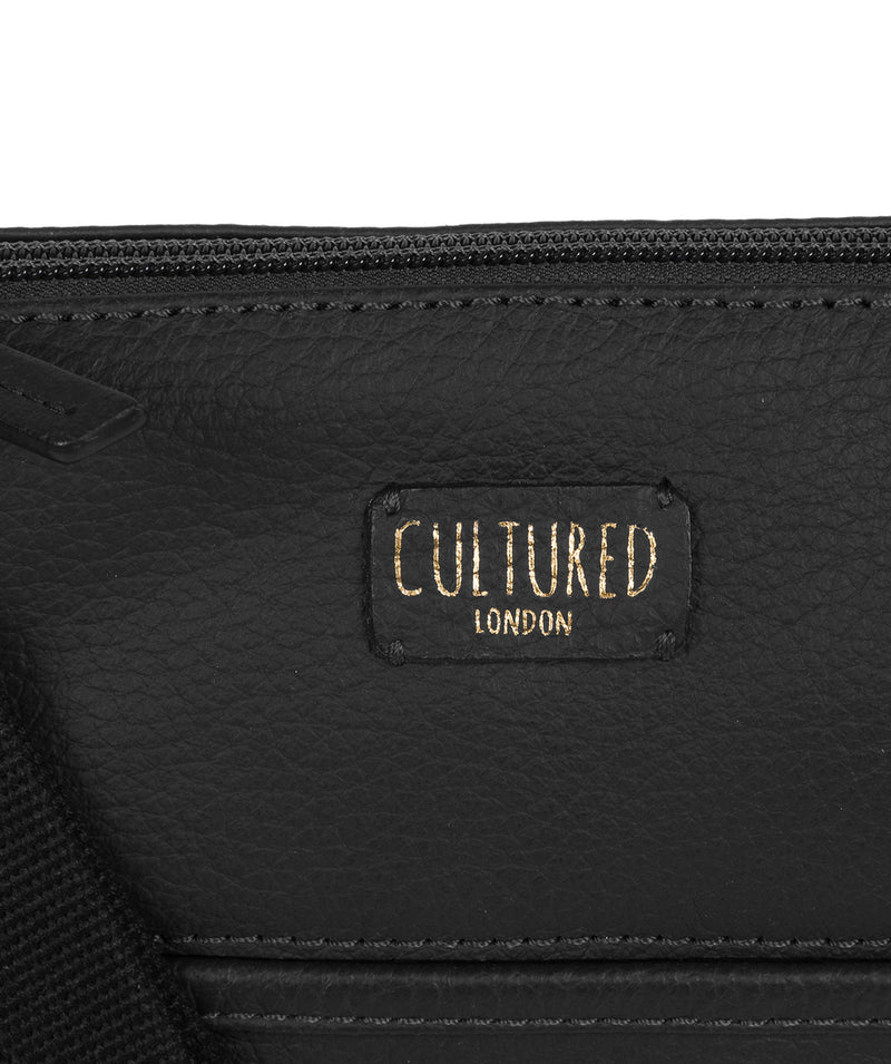 'Dalida' Black Leather Small Cross Body Bag image 5