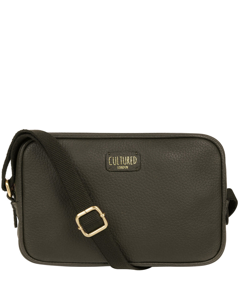 'Giulia' Olive Leather Small Cross Body Bag image 1