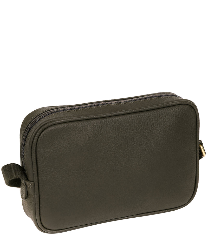 'Giulia' Olive Leather Small Cross Body Bag image 4
