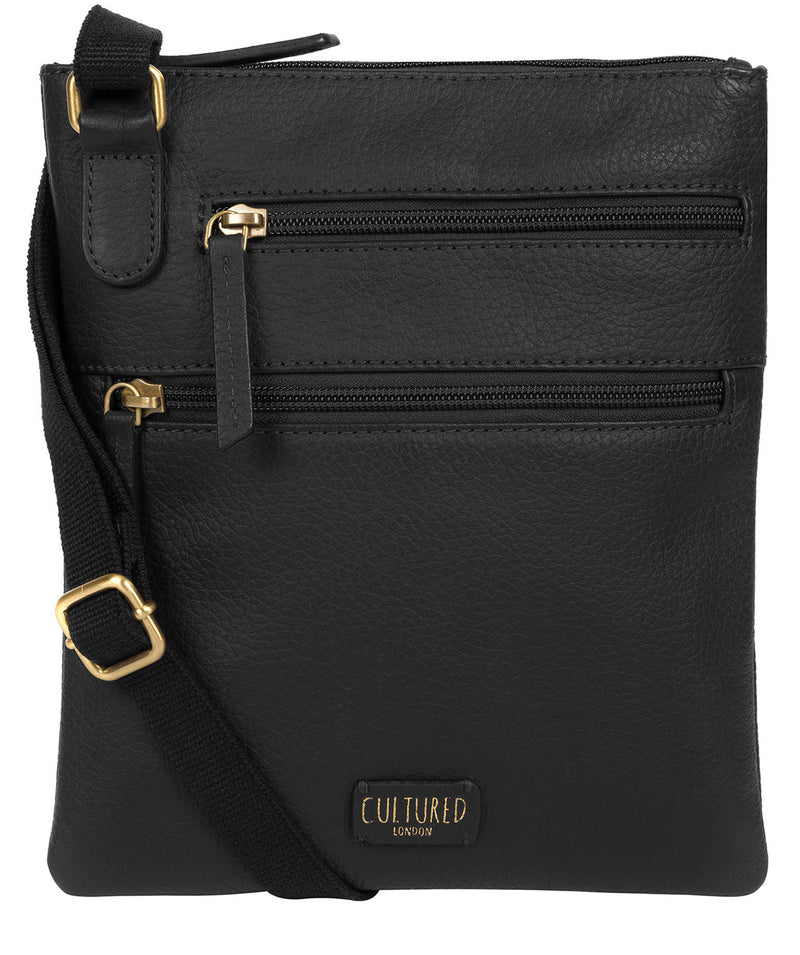 'Heloise' Black Leather Small Cross Body Bag image 1
