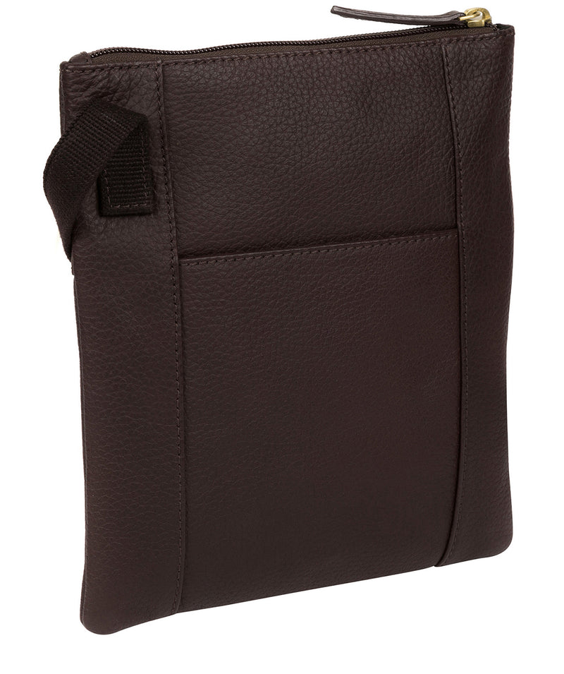 'Heloise' Dark Chocolate Leather Small Cross Body Bag image 3