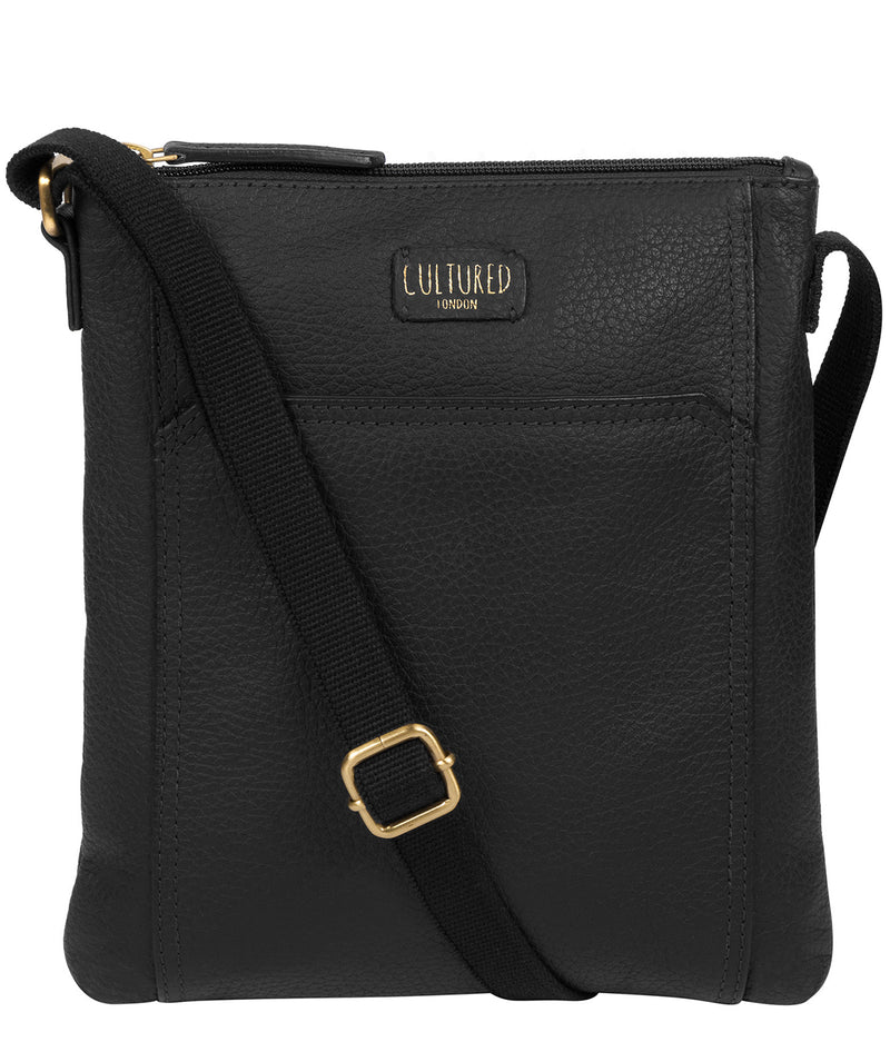 'Lucie' Black Leather Small Cross Body Bag image 1