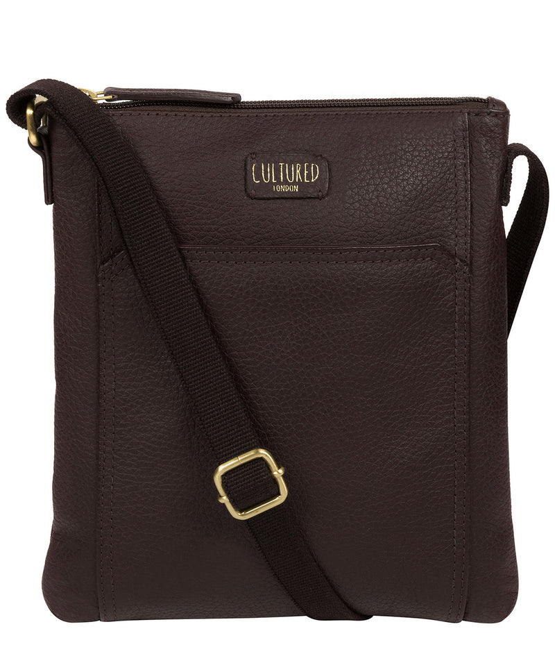'Lucie' Dark Chocolate Leather Small Cross Body Bag image 1