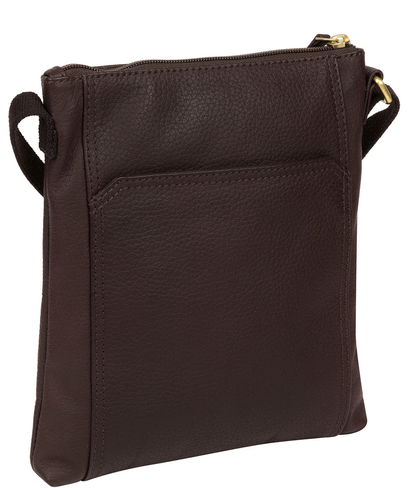 'Lucie' Dark Chocolate Leather Small Cross Body Bag image 3