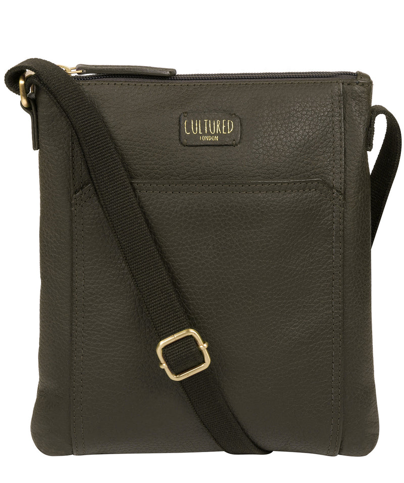 'Lucie' Olive Leather Small Cross Body Bag image 1