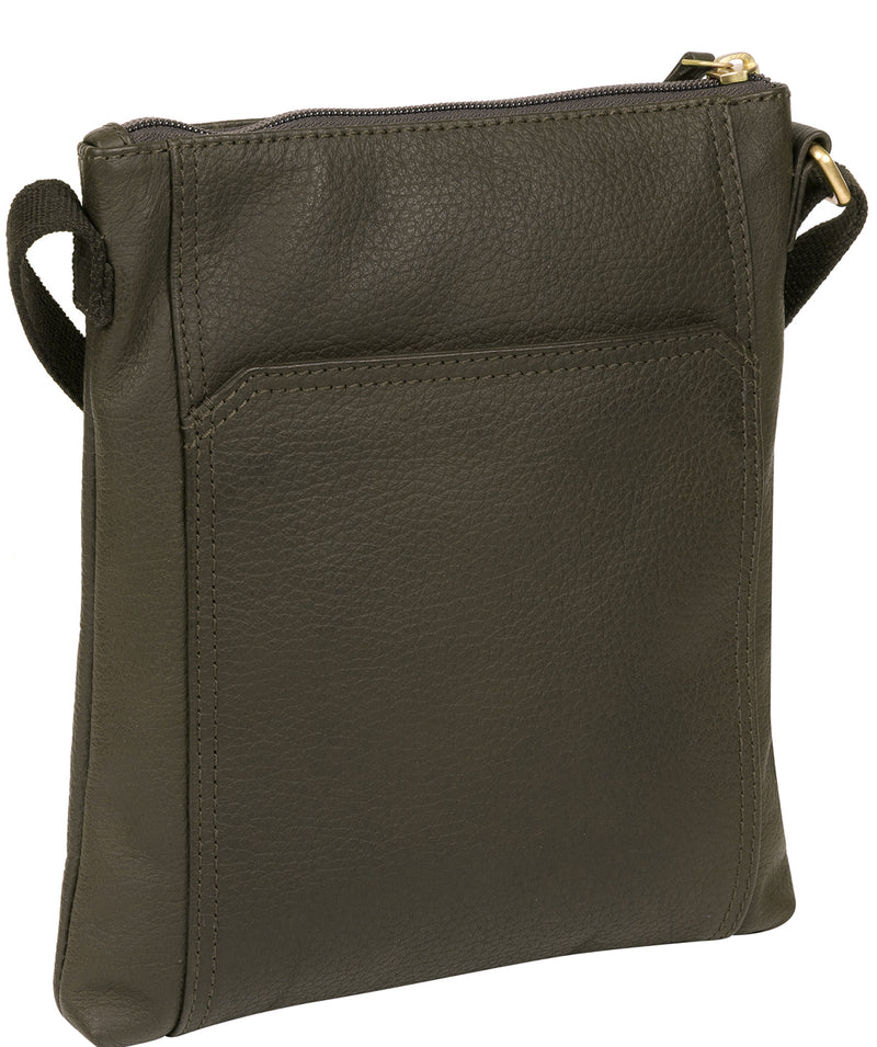 'Lucie' Olive Leather Small Cross Body Bag image 3