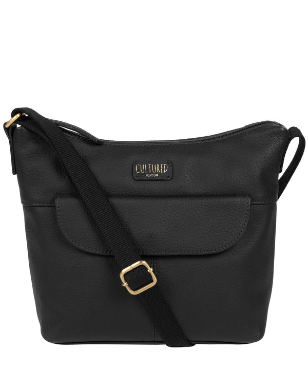 'Amel' Black Leather Small Cross Body Bag image 1