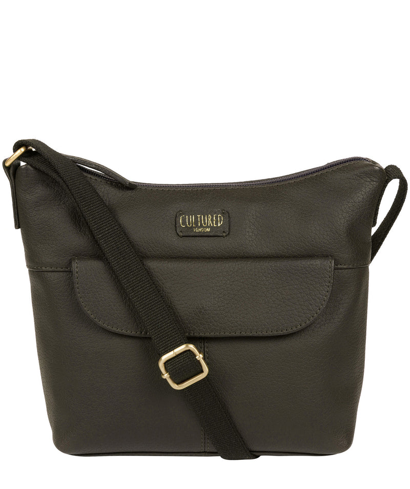 'Amel' Olive Leather Small Cross Body Bag image 1