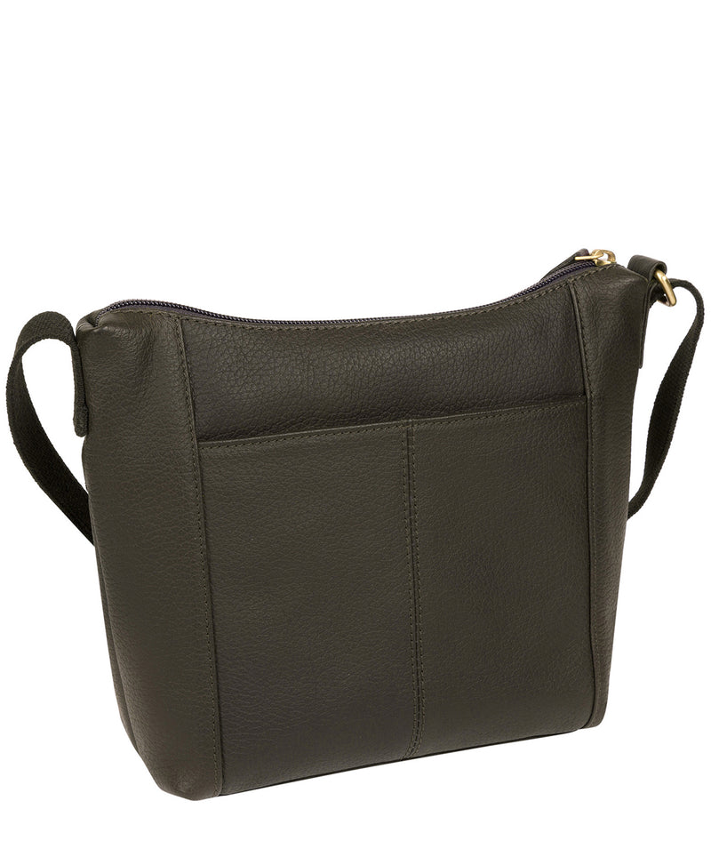 'Amel' Olive Leather Small Cross Body Bag image 3