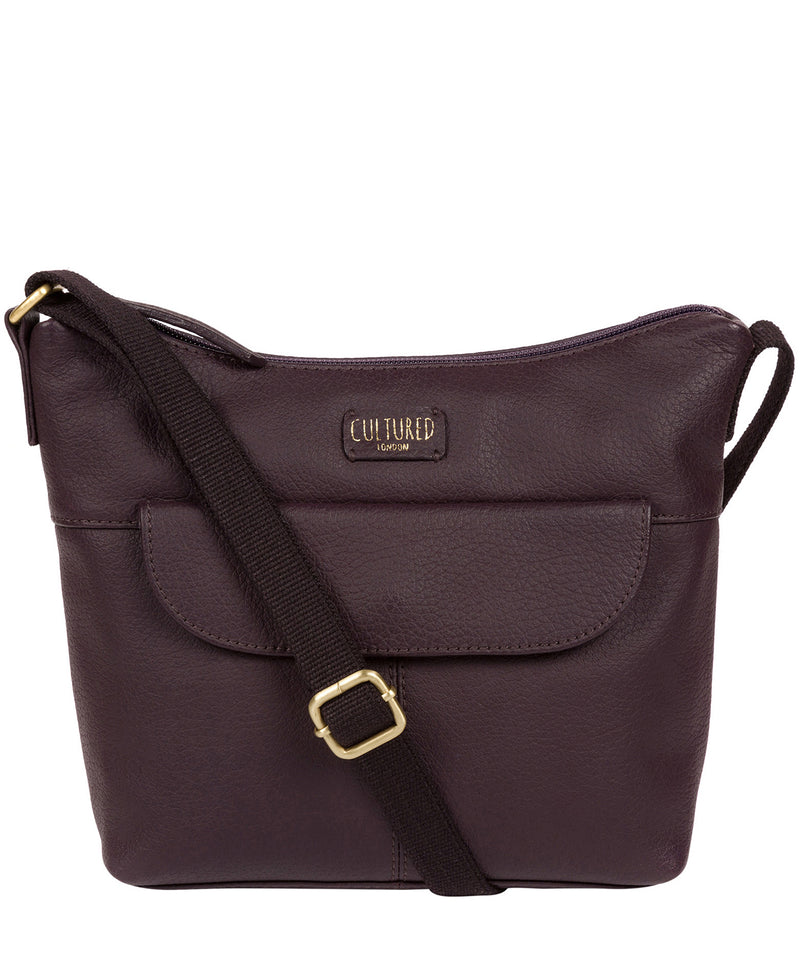 'Amel' Plum Leather Small Cross Body Bag image 1