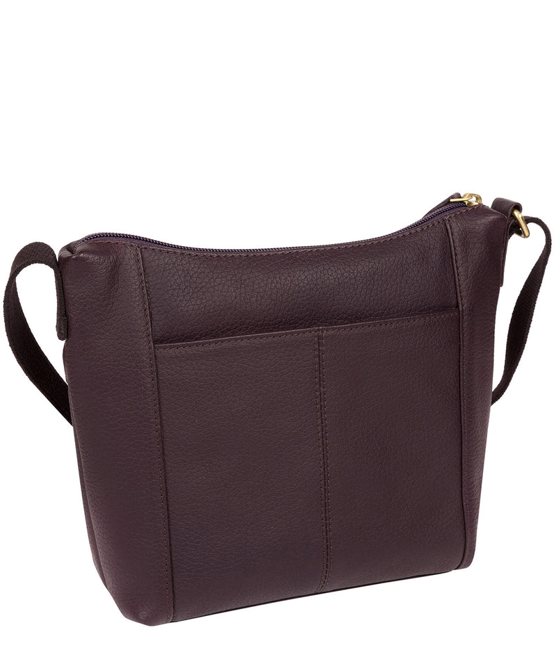 'Amel' Plum Leather Small Cross Body Bag image 4