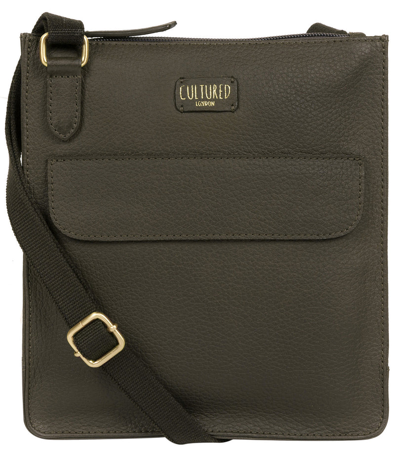 'Celeste' Olive Leather Small Cross Body Bag image 1
