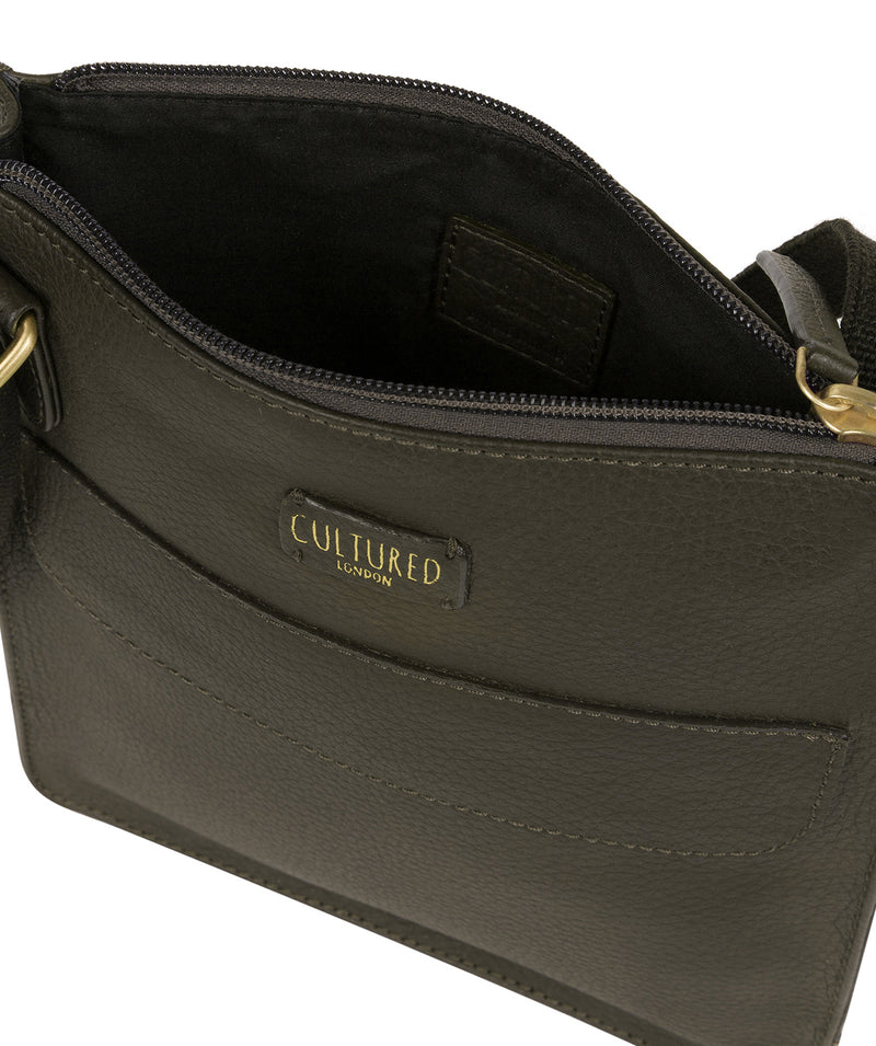'Celeste' Olive Leather Small Cross Body Bag image 4