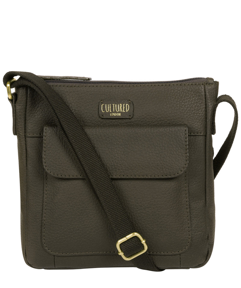 'Elna' Olive Leather Small Cross Body Bag image 1
