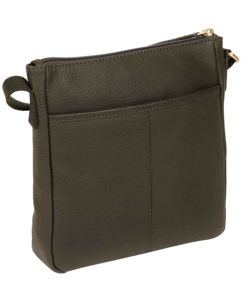 'Elna' Olive Leather Small Cross Body Bag image 3