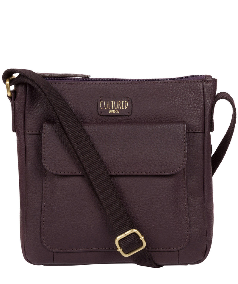 'Elna' Plum Leather Small Cross Body Bag image 1