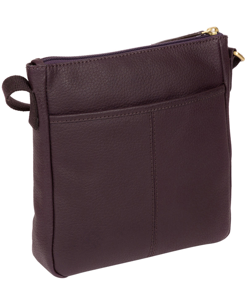 'Elna' Plum Leather Small Cross Body Bag image 3