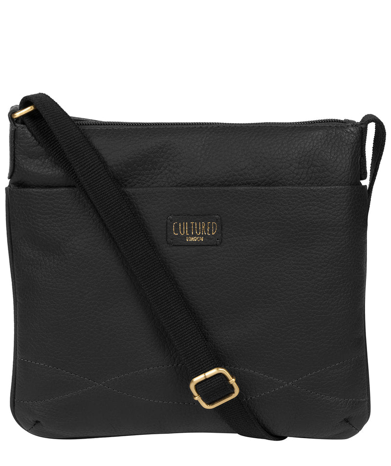 'Manon' Black Leather Small Cross Body Bag Pure Luxuries London