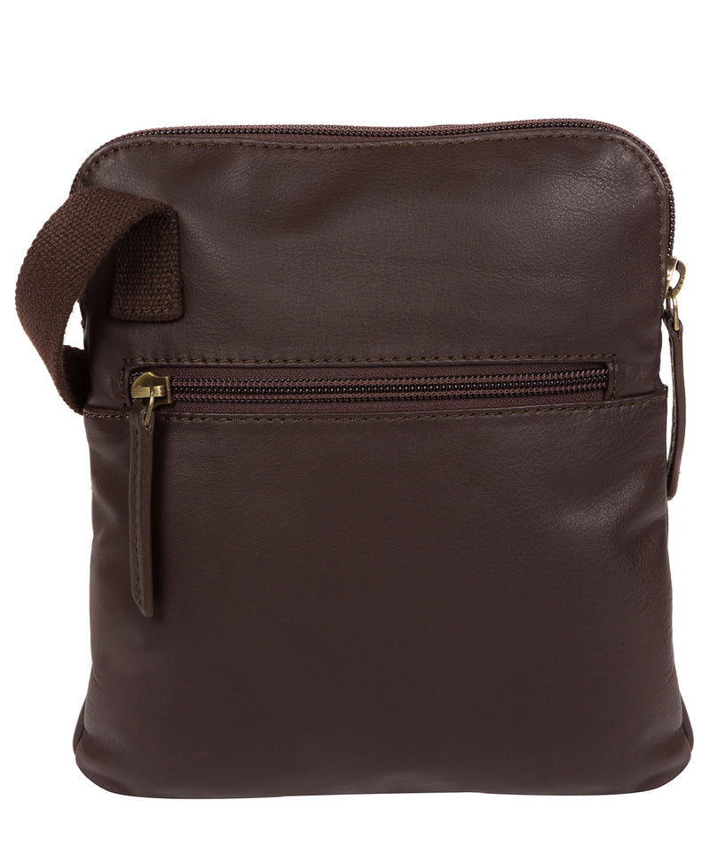 'Marqaux' Brown Leather Cross Body Bag image 3