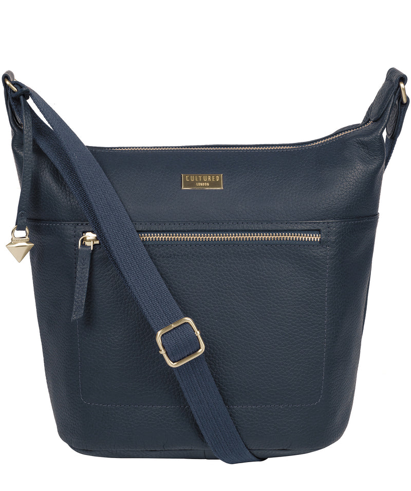 'Paula' Denim Leather Cross Body Bag image 1