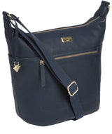 'Paula' Denim Leather Cross Body Bag Pure Luxuries London
