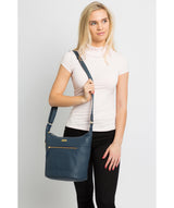 'Paula' Denim Leather Cross Body Bag image 2