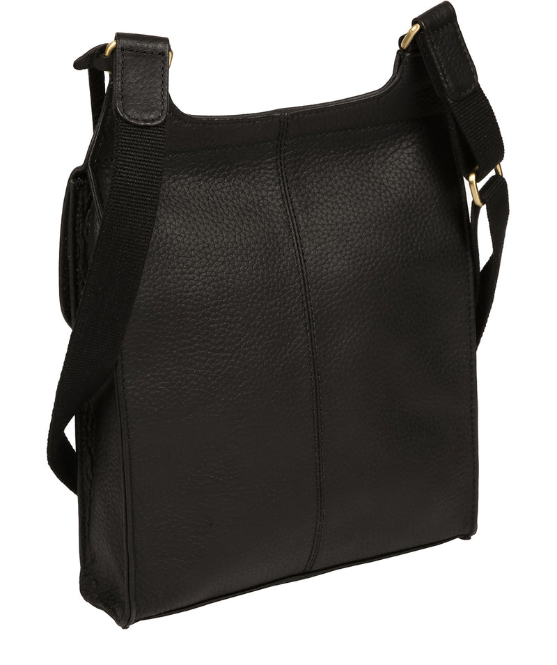 'Marie' Black Leather Cross Body Bag Pure Luxuries London