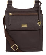 'Marie' Dark Chocolate Leather Cross Body Bag image 1