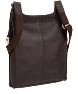 'Marie' Dark Chocolate Leather Cross Body Bag image 4