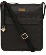'Beth' Black Leather Cross Body Bag image 1